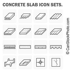 Concrete slab icons - Concrete slab vector icon sets design.