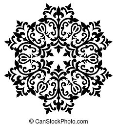 Antique ottoman turkish pattern vec - black and white...