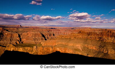 Panoramic wide angle time lapse of Grand Canyon Arizona