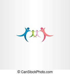 family icon vector symbol logo people element