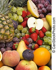 background of fresh fruits bunch berry banana