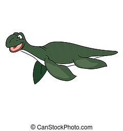 The green image of a plesiosaur.