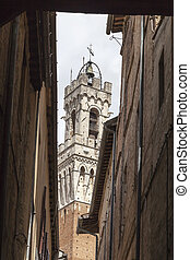 Sienna, Torre del Mangia, Italy - Sienna, Torre del Mangia...
