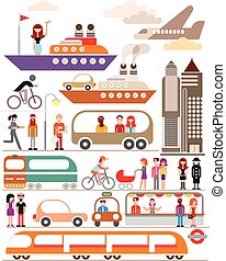 Cityscape - Modern City vector illustration isolated on a...