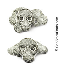 Skull shaped licorice candy - Skull shaped salt coated...