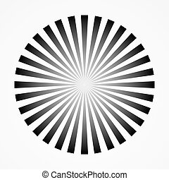 Abstract converging and radiating lines. Monochrome graphics...