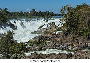waterfall in Laos
