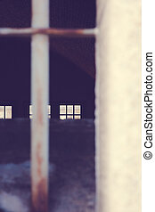 View Through a Fort Window - A view through an old military...