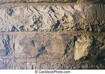 Stone blocks texture - Photograph of a stone blocks wall