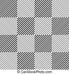 Abstract seamless black and white pattern of squares