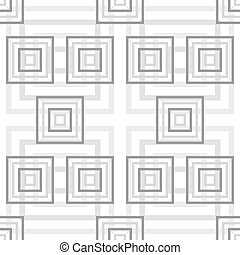 Abstract seamless pattern of different sized squares -...