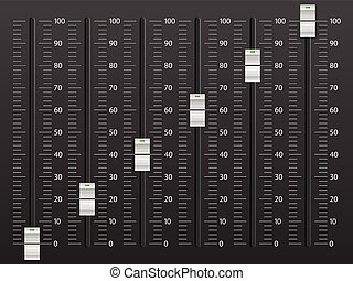 Mixing console - Sound mixing console on black background
