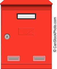 Mailbox on a white background