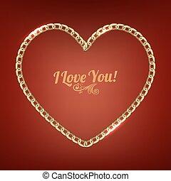Golden chain heart