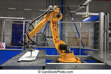 Industrial Robot in manufacturing - Industrial robotic arm...