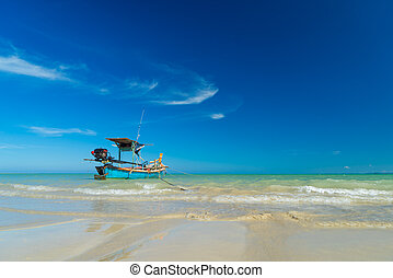 Khao Lak beach in Thailand - White sand beach Khao Lak in...