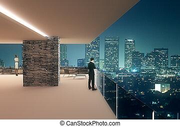 Interior design at night