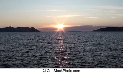 Lycian sunset and the sea - Lycian sunset between islands...