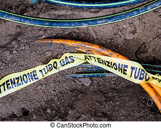 Underground gas pipeline - Inground polypropylene tubing for...