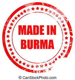 Made in burma with some soft smooth lines