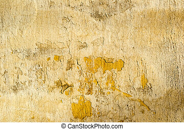 Yellow concrete cracked wall texture - Yellow old dirty...
