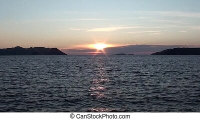 Lycian sunset and the sea 3 - Lycian sunset between islands...