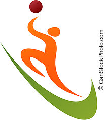 Basketball icon logo - Abstract outline of a basketball...