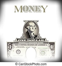 One dollar money background - A money background with space...