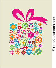Gift box - Present box with floral pattern