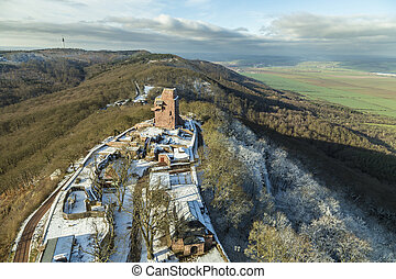 Wilhelm I Monument on Kyffhaeuser Mountain Thuringia,...
