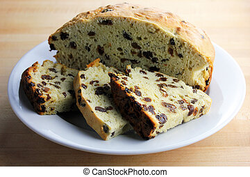 Irish Soda Bread - A freshly baked loaf of Irish soda bread