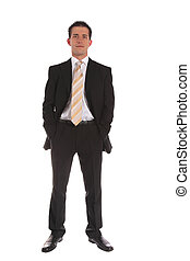 Ambitious businessman - An ambitious businessman standing in...