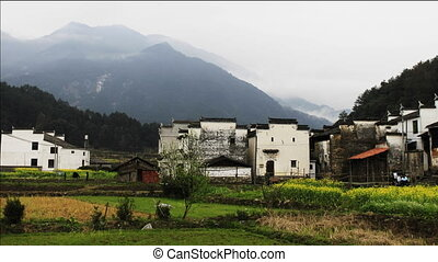 wuyuan1.mov - beautiful old village in China, time lapse of...