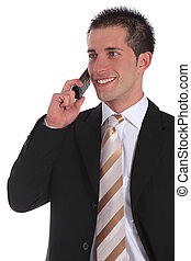 Pleasant call - A handsome businessman gets a pleasant call....