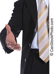 Completion of a contract - A businessman reaches out to...