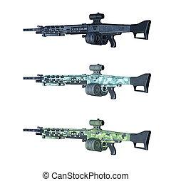 Assault rifle - 3D CG rendering of assault rifle