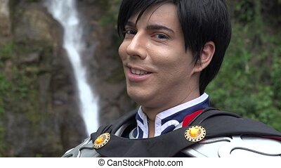 Smiling Male Cosplay Prince