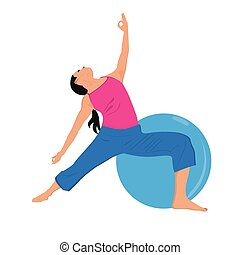 Vector illustration of fitness girl - Vector illustration of...