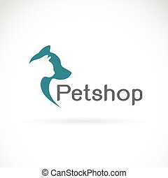 Vector image of an dog and cat design on white background....