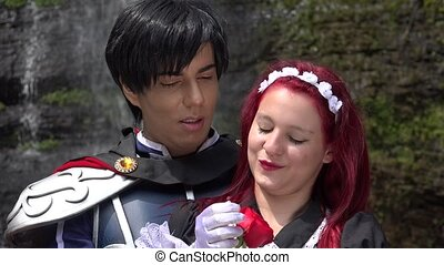 Prince Kisses Maiden Cosplay