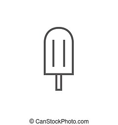 Popsicle line icon. - Popsicle thick line icon with pointed...