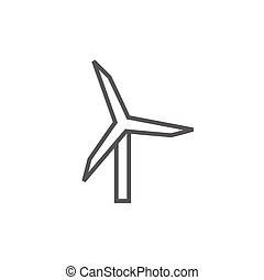 Windmill line icon. - Windmill thick line icon with pointed...