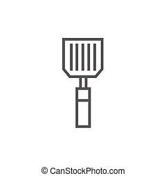 Kitchen spatula line icon - Kitchen spatula thick line icon...