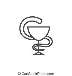 Symbol, farmaceutisk, medicinsk, fodra, ikon