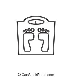 Weighing scale line icon. - Weighing scale line icon for...