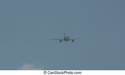 Airbus 320 taking off from Phuket airport