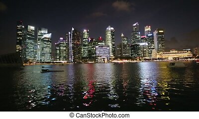 Night views of Singapore