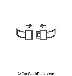 Seat belt line icon. - Seat belt thick line icon with...