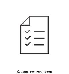 Shopping list line icon. - Shopping list thick line icon...