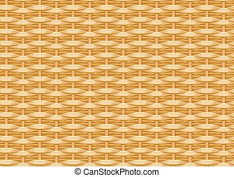 Seamless braided background. Wicker straw. Woven willow...